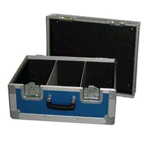 DJ Quattro dvd Flightcase Blauw