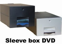 Sleeve box dvd 125 zwart incl 75x4510